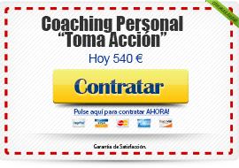 """contratar coaching personal """"Toma Acción"""""""